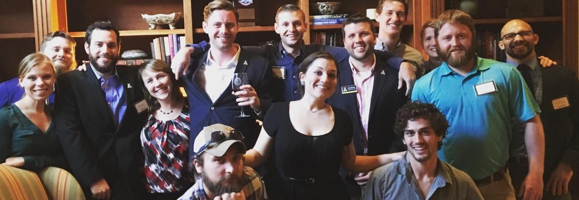 Student Veterans celebrating the SVRC at App House!