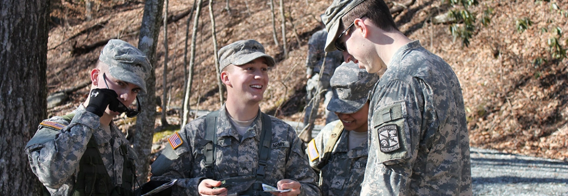 Appalachian State ROTC students